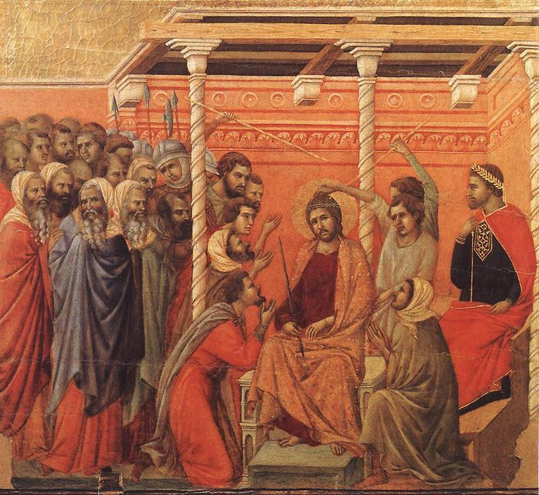 Crown of Thorns, 1308 by Duccio Di Buoninsegna (1255-1319, Italy) | Painting Copy | WahooArt.com