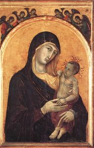 Duccio Di Buoninsegna - Madonna and Child with Six Angels