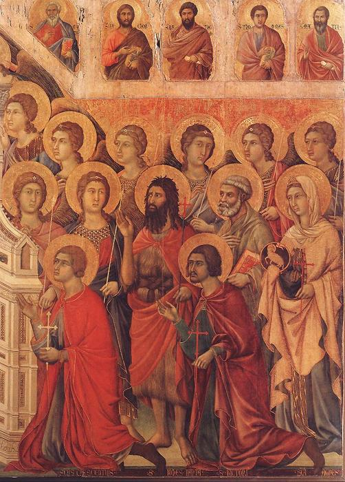Maestà (detail), 1308 by Duccio Di Buoninsegna (1255-1319, Italy) | Art Reproduction | WahooArt.com
