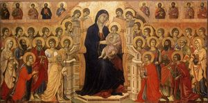 Duccio Di Buoninsegna - Maestà (Madonna with Angels and Saints)