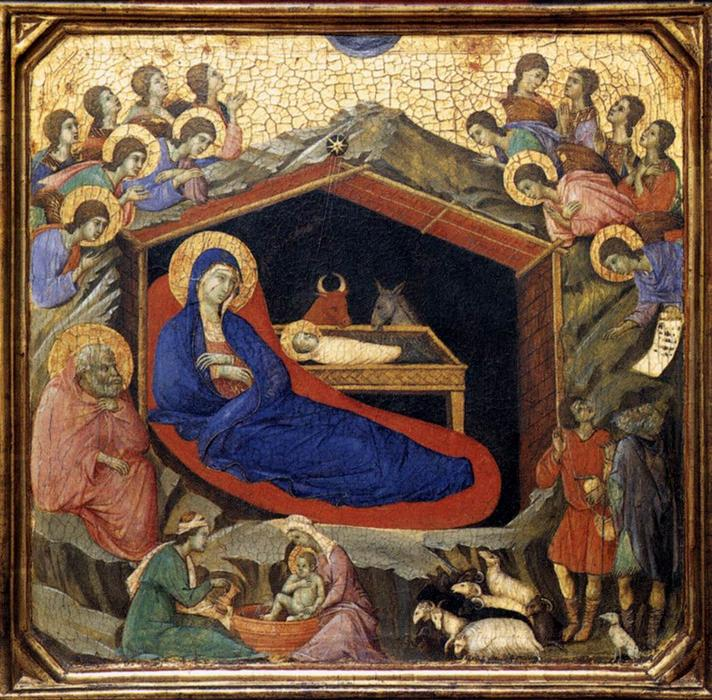 Nativity, 1308 by Duccio Di Buoninsegna (1255-1319, Italy) | Museum Quality Reproductions | WahooArt.com