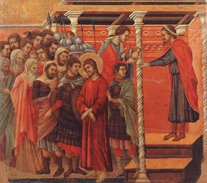 Duccio Di Buoninsegna - Pilate Washing his Hands
