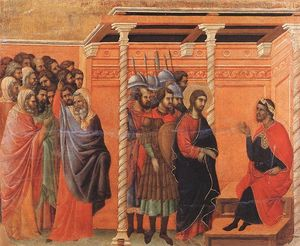 Duccio Di Buoninsegna - Pilate's First Interrogation of Christ