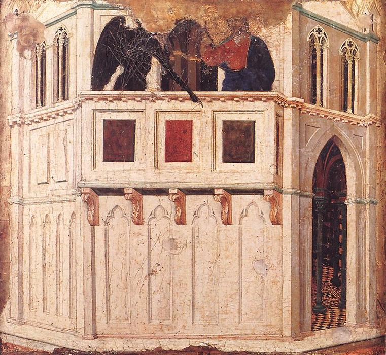 Temptation on the Temple, 1308 by Duccio Di Buoninsegna (1255-1319, Italy) | Art Reproductions Duccio Di Buoninsegna | WahooArt.com