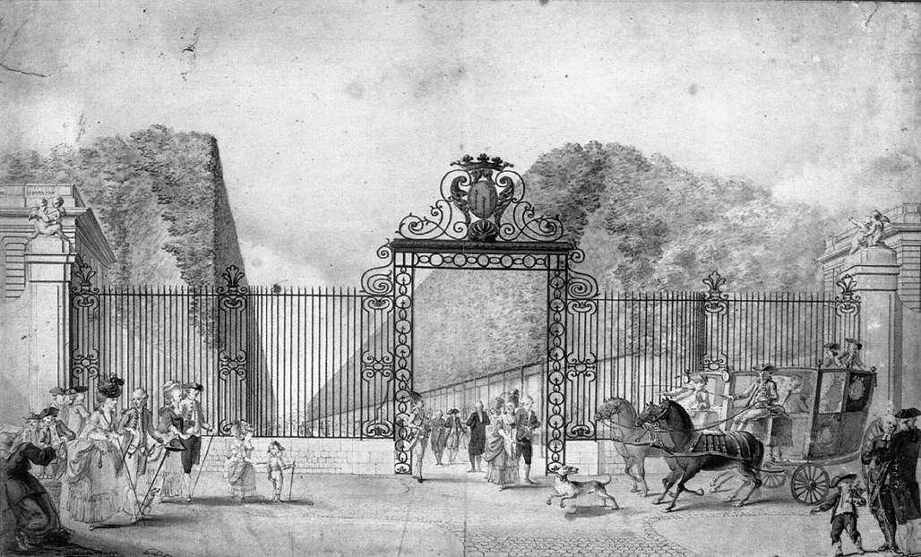 The Entrance to Blossac Park in Poitiers by Gaspard Duché De Vancy (1756-1788, France) | Museum Quality Reproductions | WahooArt.com
