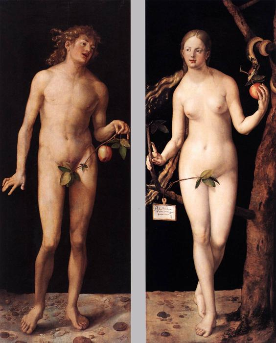 Adam and Eve, 1507 by Albrecht Durer (1471-1528, Italy) | Art Reproduction | WahooArt.com