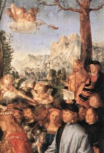 Albrecht Durer - Feast of the Rose Garlands (detail)