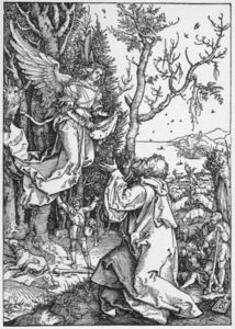 Albrecht Durer - Life of the Virgin: 2. The Angel Appering to Joachim
