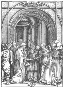 Albrecht Durer - Life of the Virgin: 6. Marriage of the Virgin
