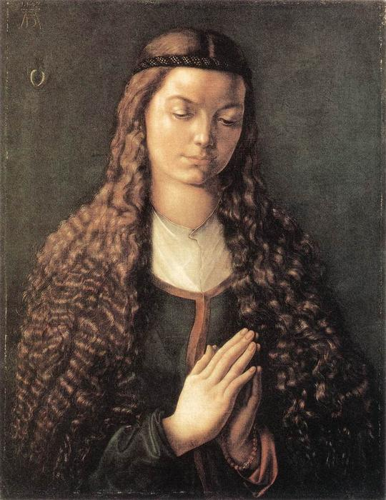 Portrait Of A Woman With Her Hair Down, Oil On Canvas by Albrecht Durer (1471-1528, Italy)