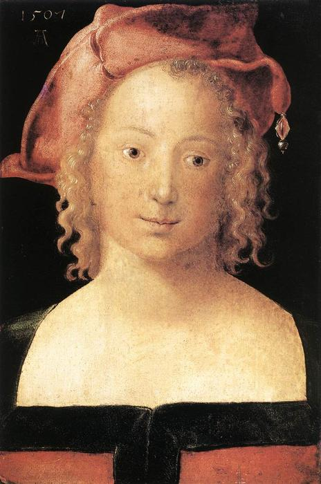 Portrait of a Young Girl, Oil On Panel by Albrecht Durer (1471-1528, Italy)