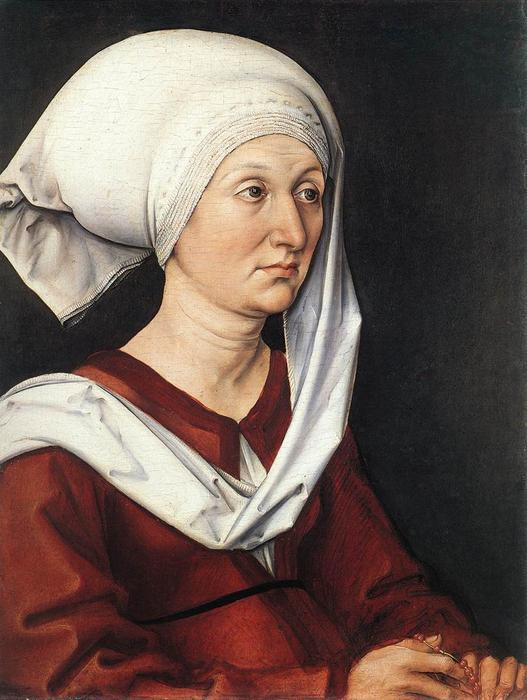 Portrait of Barbara, Oil On Panel by Albrecht Durer (1471-1528, Italy)
