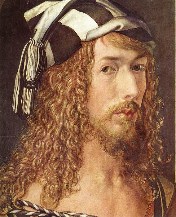 Self-Portrait at 26 (detail), Oil On Panel by Albrecht Durer (1471-1528, Italy)