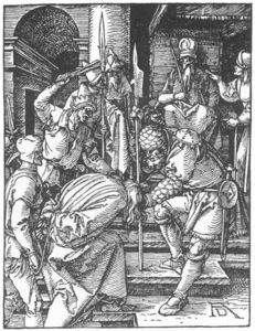 Albrecht Durer - Small Passion: 12. Christ before Annas