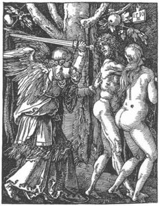 Albrecht Durer - Small Passion: 2. Expulsion from the Paradise