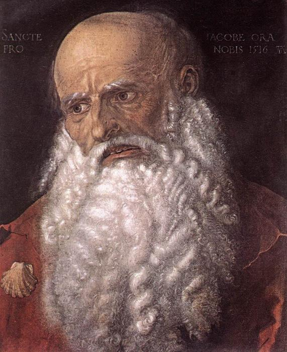 The Apostle James the Elder, Tempera by Albrecht Durer (1471-1528, Italy)
