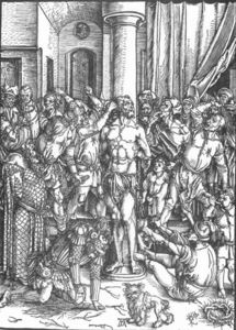 Albrecht Durer - The Large Passion: 3. Flagellation of Christ