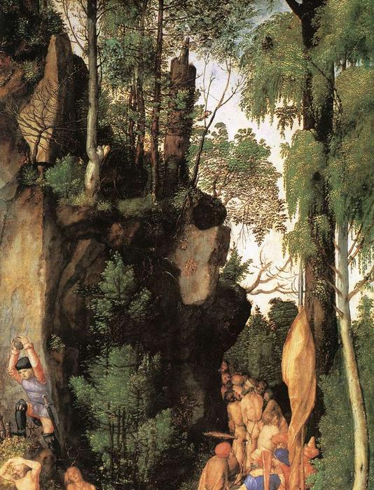 The Martyrdom of the Ten Thousand (detail), Oil On Canvas by Albrecht Durer (1471-1528, Italy)