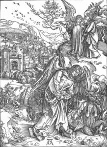 Albrecht Durer - The Revelation of St John: 15. The Angel with the Key to the Bottomless Pit