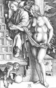Albrecht Durer - The Temptation of the Idler or The Dream of the Doctor