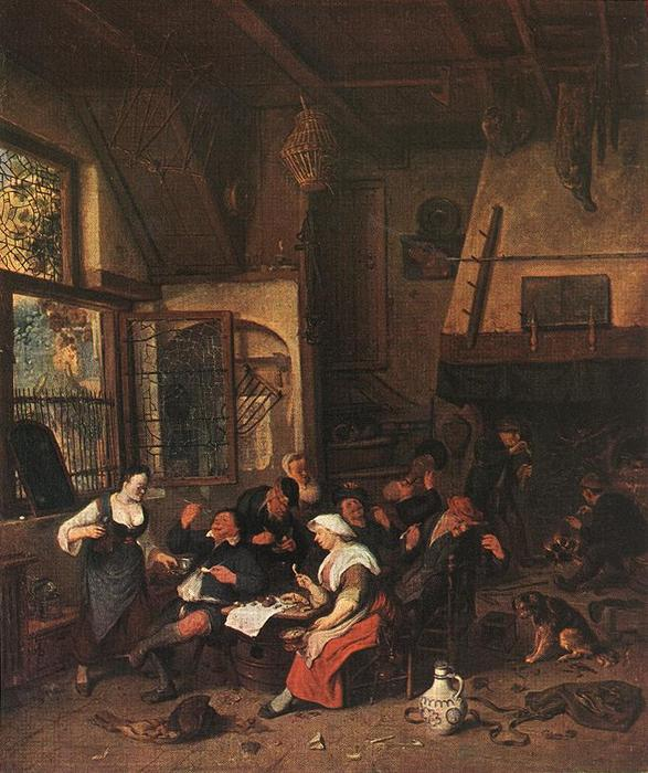 Order Museum Quality Copies | Tavern Scene by Cornelis Dusart (1660-1704, Netherlands) | WahooArt.com