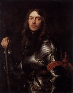 Anthony Van Dyck - Portrait of a Man in Armour with Red Scarf