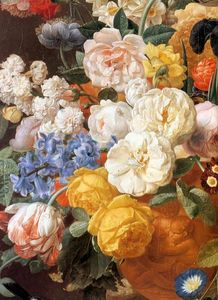 Jan Frans Eliaerts - Bouquet of Flowers in a Sculpted Vase (detail)