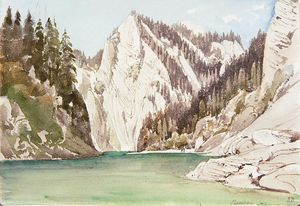 Thomas Ender - The Pieniny Mountains with the Dunajec River
