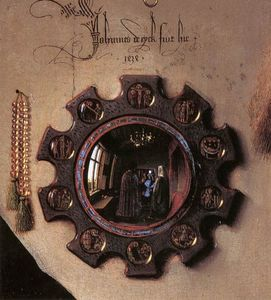 Jan Van Eyck - Portrait of Giovanni Arnolfini and his Wife (detail)