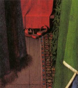 Jan Van Eyck - Portrait of Giovanni Arnolfini and his Wife (detail) (10)