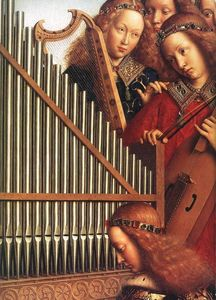 Jan Van Eyck - The Ghent Altarpiece: Angels Playing Music (detail)