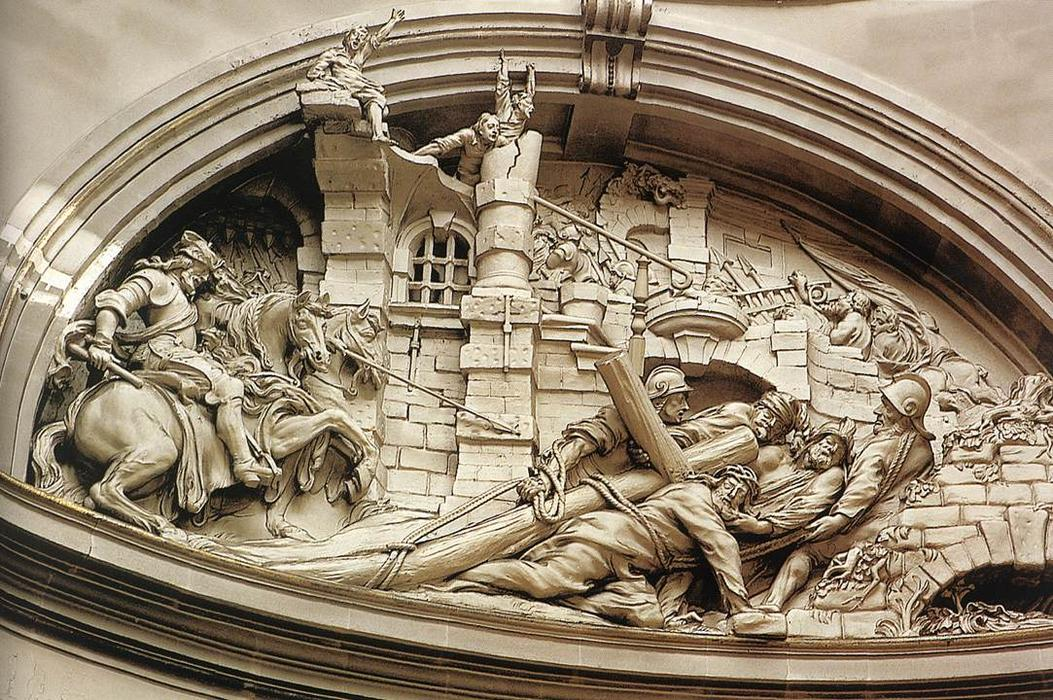 The Fall of Christ under the Cross, Marble by Lucas Faydherbe (1617-1697, Belgium)