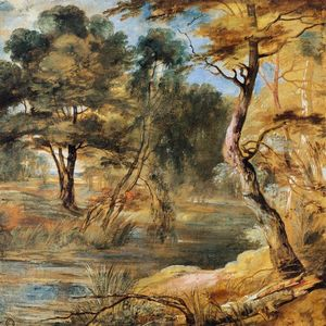 Jacques Fouquier - Wooded Landscape with a Stream