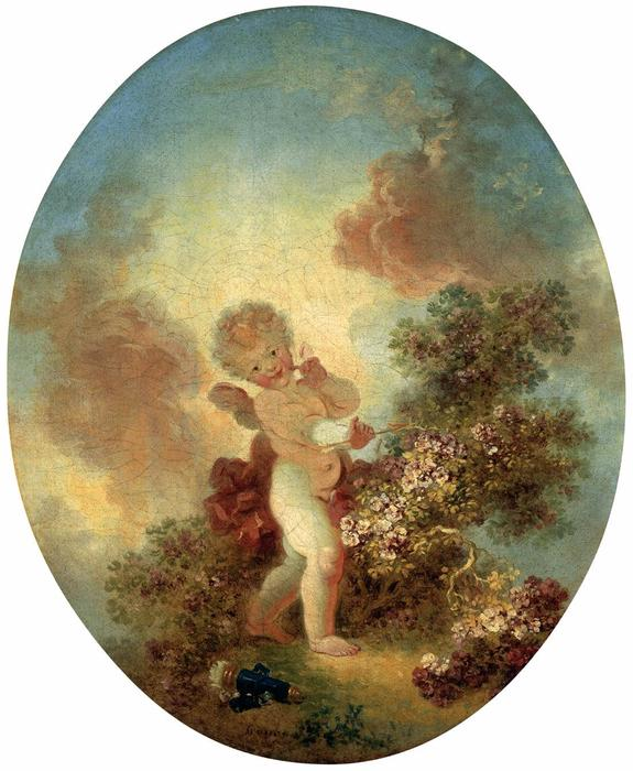 Love the Sentinel, 1773 by Jean-Honoré Fragonard (1732-1806, France) | Art Reproduction | WahooArt.com