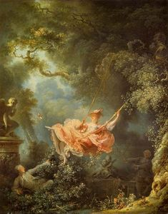 Order Art Reproductions | The Swing, 1767 by Jean-Honoré Fragonard (1732-1806, France) | WahooArt.com