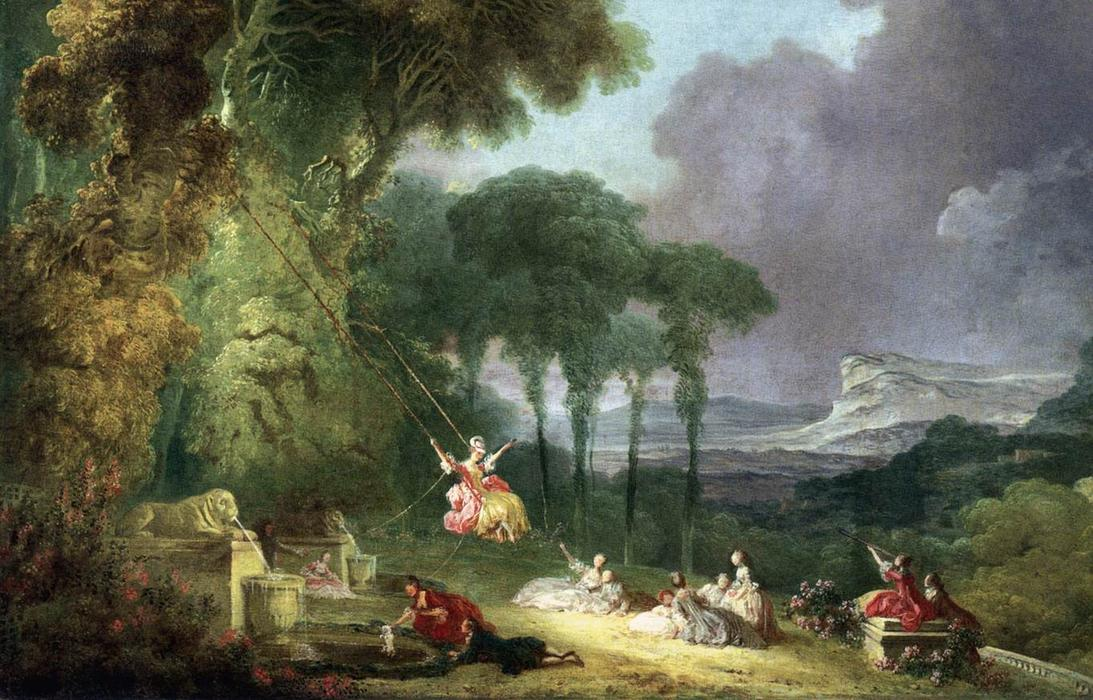 The Swing (detail), 1775 by Jean-Honoré Fragonard (1732-1806, France) | Painting Copy | WahooArt.com