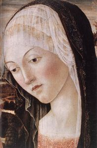Francesco Di Giorgio Martini - Madonna and Child with an Angel (detail)