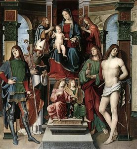 Francesco Francia (Francesco Raibolini) - Madonna and Saints