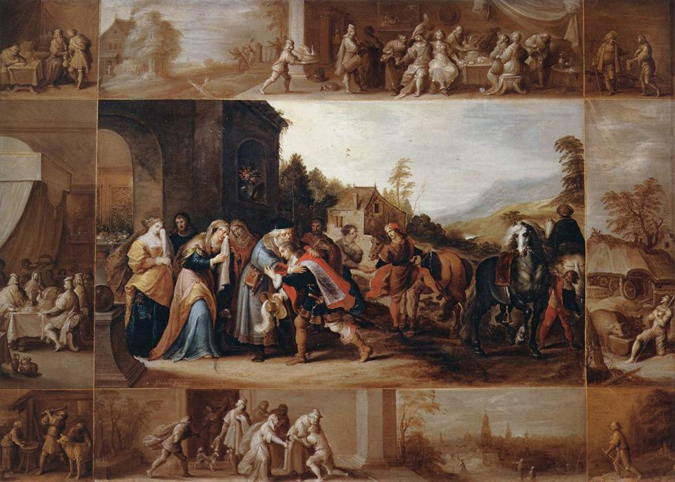 The Parable of the Prodigal Son, 1633 by Frans Francken The Younger (1581-1642, Belgium) | Oil Painting | WahooArt.com