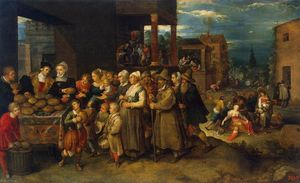 Frans Francken The Younger - The Seven Acts of Mercy