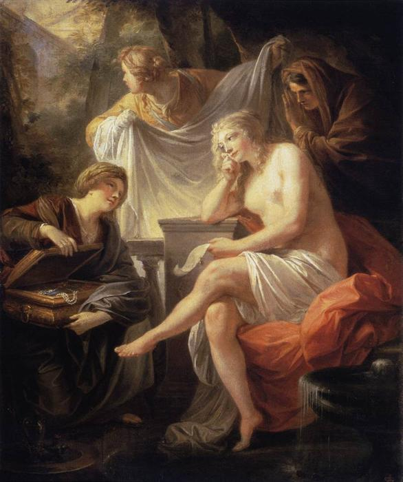 Bathsheba at the Bath by Friedrich Heinrich Füger (1751-1818, Germany) | Museum Quality Reproductions | WahooArt.com