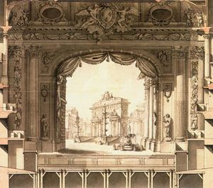 Ange Jacques Gabriel - Elevation Drawing of the Stage, Versailles Opera House