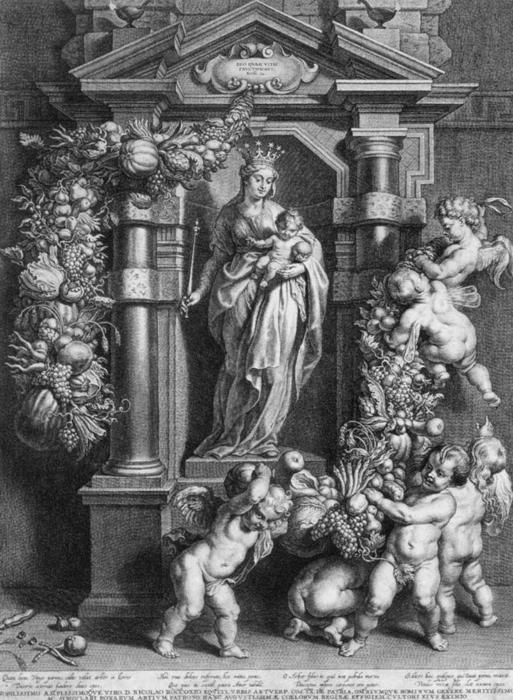 Mary Queen of Heaven by Cornelis Galle (1615-1678, Belgium) | Paintings Reproductions Cornelis Galle | WahooArt.com