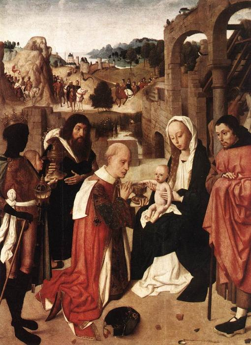 Adoration of the Kings by Geertgen Tot Sint Jans (1460-1490, Netherlands) | Painting Copy | WahooArt.com