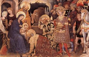 Gentile Da Fabriano - Adoration of the Magi (detail)