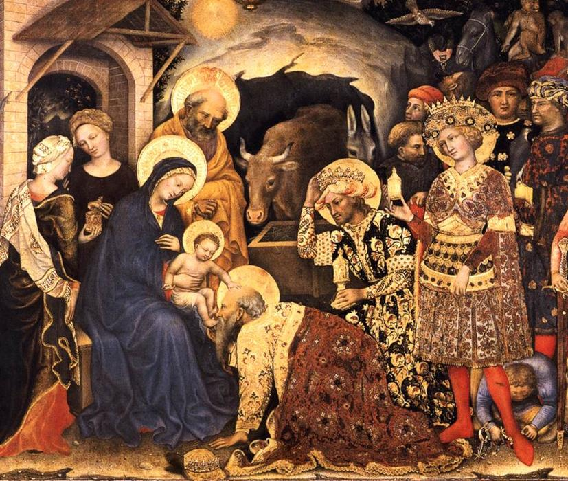 Adoration of the Magi (detail), 1423 by Gentile Da Fabriano (1370-1427, Italy) | Museum Art Reproductions Gentile Da Fabriano | WahooArt.com