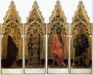 Gentile Da Fabriano - Quaratesi Polyptych: Four Saints