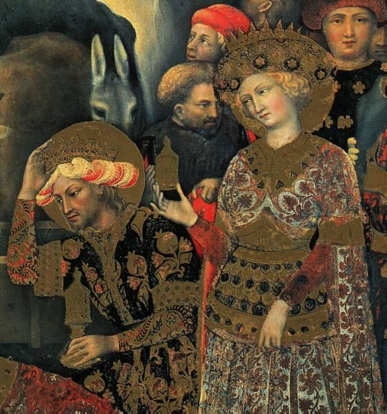 The Adoration of the Magi (detail), Tempera by Gentile Da Fabriano (1370-1427, Italy)
