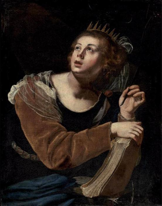 St Catherine of Alexandria, 1640 by Artemisia Gentileschi (1593-1656, Italy) | Oil Painting | WahooArt.com