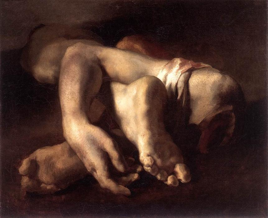 Study of Feet and Hands, 1818 by Jean-Louis André Théodore Géricault (1791-1824, France) | Art Reproductions Jean-Louis André Théodore Géricault | WahooArt.com